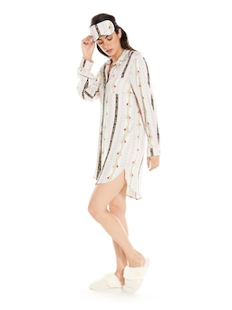 Wallpaper Floral Long Sleeve Nightshirt