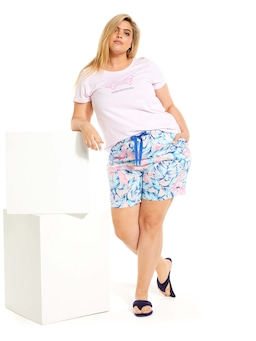 P.A. Plus Palm Leaf Long Short