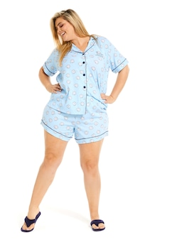 P.A. Plus Pufferfish Shortie Pj Set