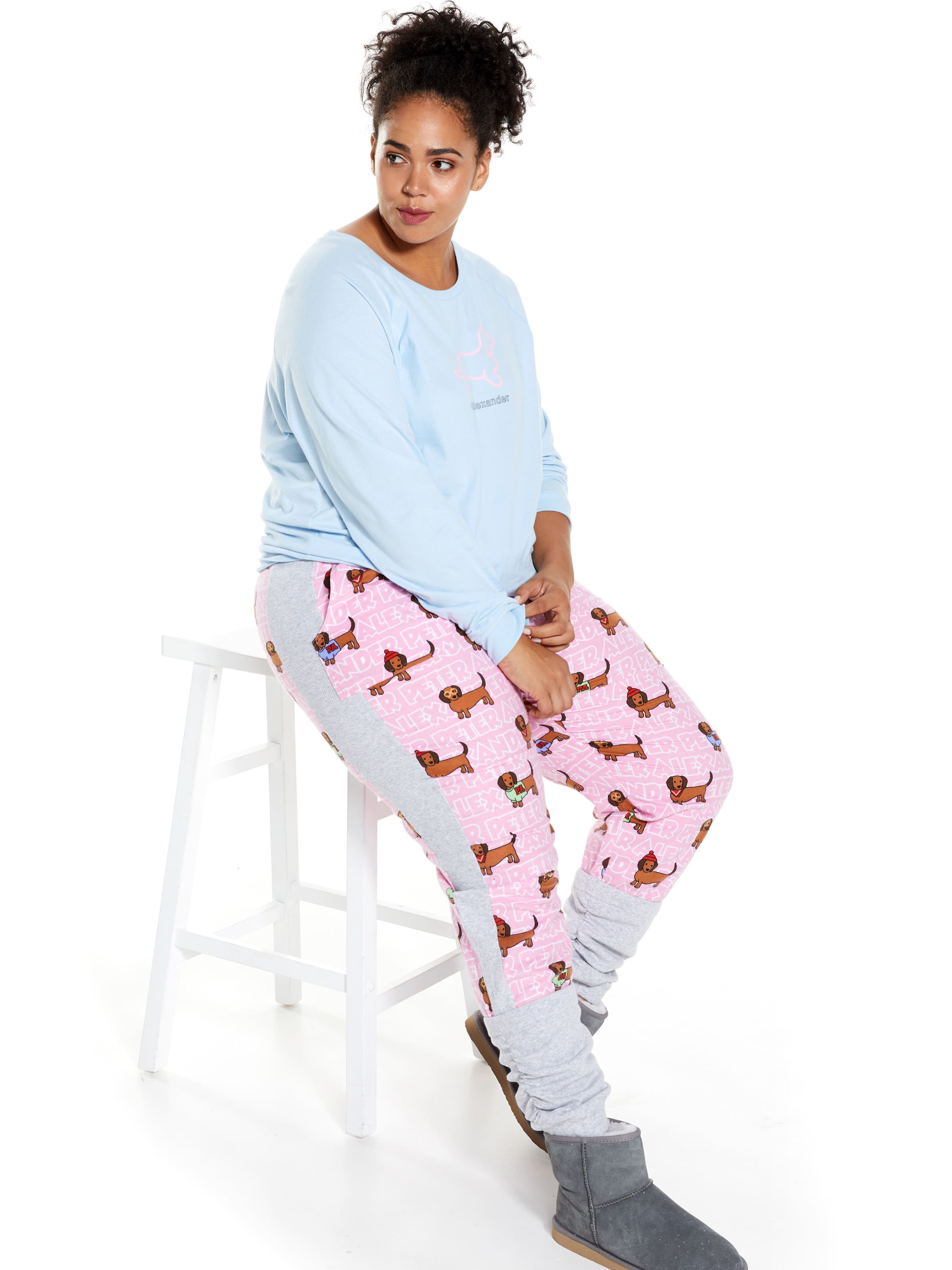 115bc37cfd0f0 ... Image for P.A. Plus Pink Penny Dog Flannelette Legwarmer Pj Pant from  Peter Alexander ...