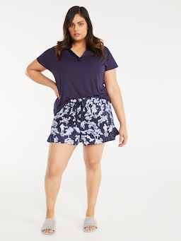 P.A. Plus Blue Garden Mid Short