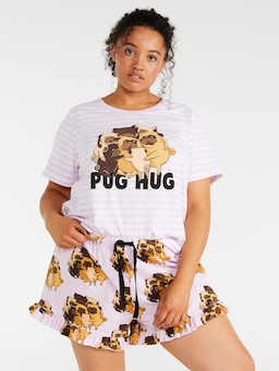 P.A. Plus Pug Hug Flutter Short