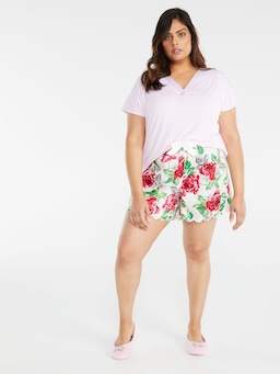P.A. Plus Rose Scallop Short