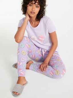 Donut And Coffee Easy Pj Pant