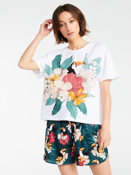 Floral Toucan Tee