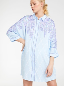 Wisteria Long Sleeve Nightshirt