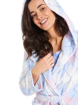 Argyle Hooded Gown
