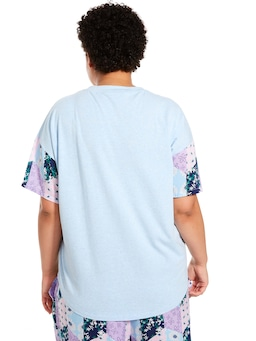 P.A. Plus Floral Patches Short Sleeve Tee