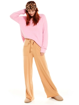 Brown Fuzzy Wide Leg Pj Pant