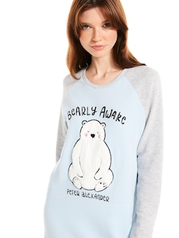 Bearly Awake Long Sleeve Sleep Tee