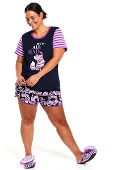 P.A Plus Disney Cheshire Cat Waffle Short