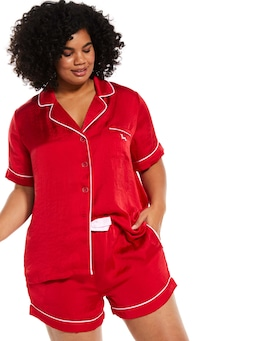P.A. Plus Red Chic Satin Pj Set