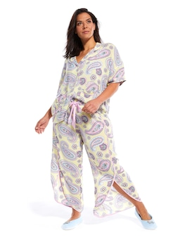 P.A. Plus Yellow Paisley Cross Over Pj Pant