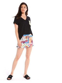 Mixed Floral Frill Short