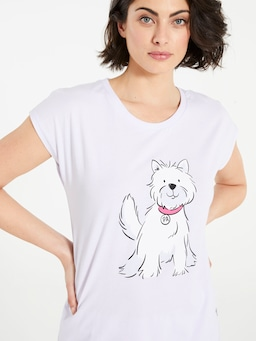 Lilac Puppy Tee