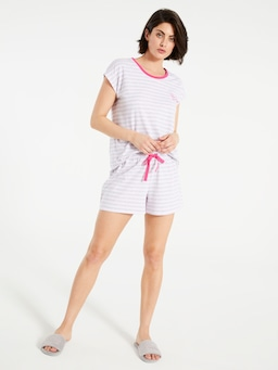 Pink Stripe Long Short