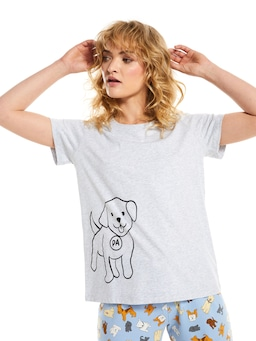 Blue P.A. Doggo Tee