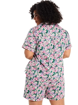 P.A. Plus Classic Floral Short Sleeve Pj Set