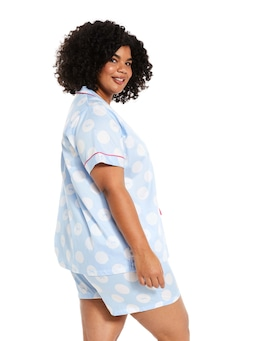 P.A. Plus Classic Spot Short Sleeve Pj Set