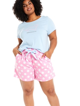 P.A. Plus Classic Polka Dot Long Short