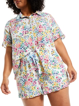P.A. Plus Ditsy Floral Frill Mid Short