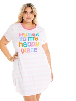 P.A. Plus Bed Is My Happy Place Slim Sleep Tee