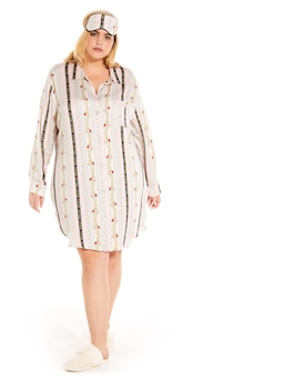 P.A. Plus Wallpaper Floral Long Sleeve Nightshirt
