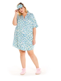 P.A. Plus Painted Blue Nightshirt