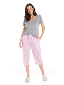 Cable Knit 3/4 Pj Pant