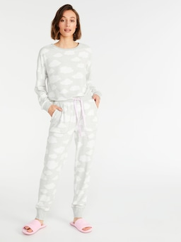 Grey Cloud Plush Pj Pant