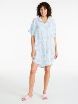 Blue Paisley Nightshirt