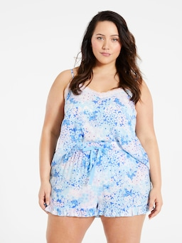 P.A. Plus Field Of Florals Frill Short