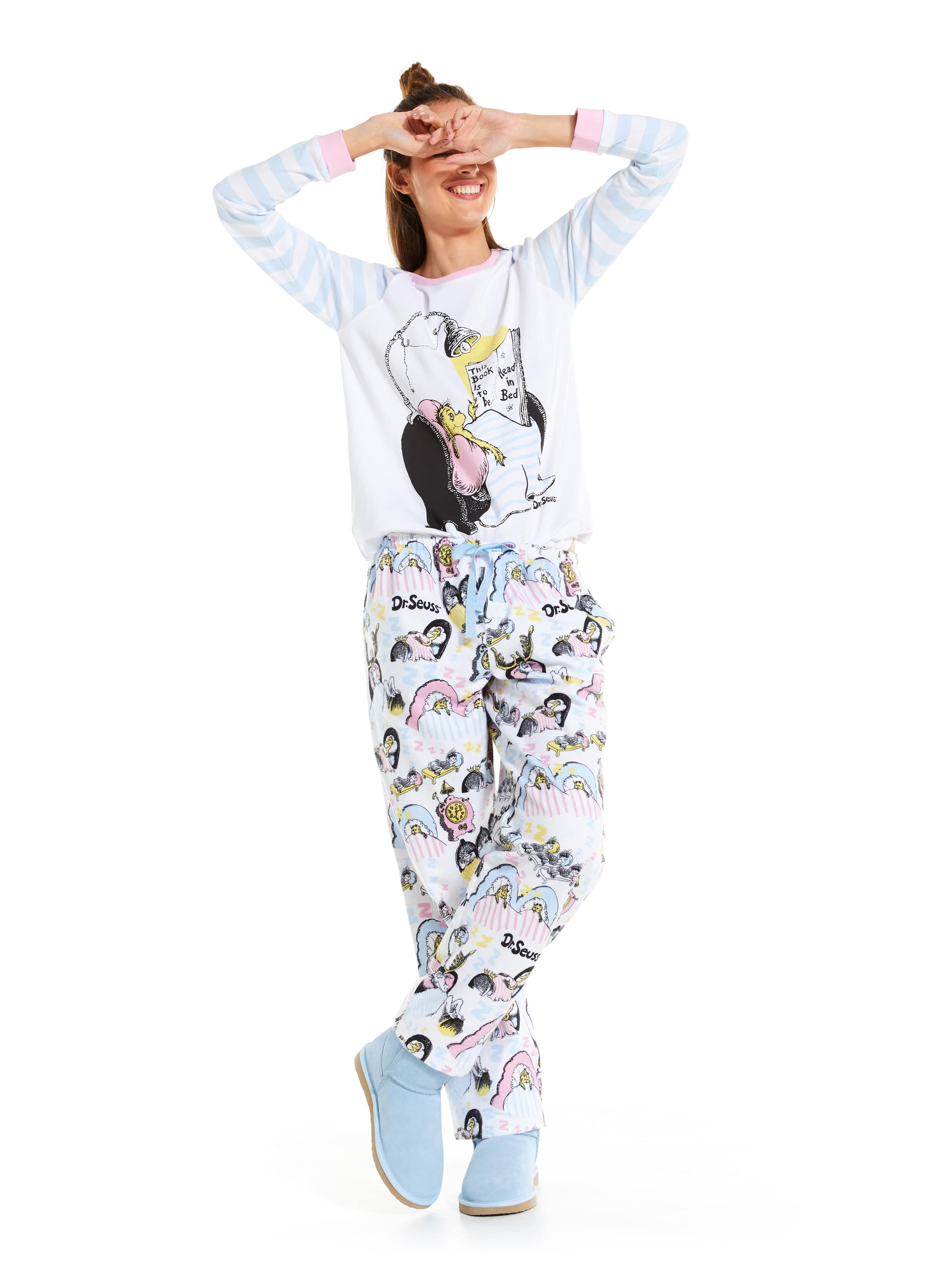 4a48c096f2a64 ... Image for Dr. Seuss This Book Flannelette Classic Pj Pant from Peter  Alexander ...