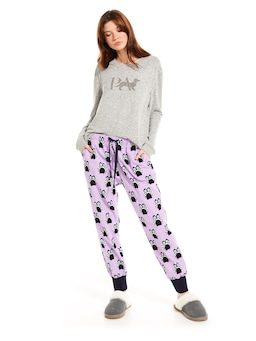 Owl Flannelette Cuff Pant