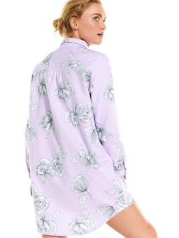 Lilac Floral Flannelette Nightshirt