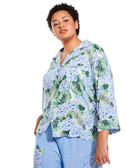 P.A. Plus Hydrangea Long Sleeve Shirt