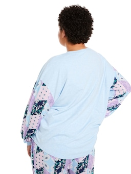 P.A. Plus Floral Patches Long Sleeve Top