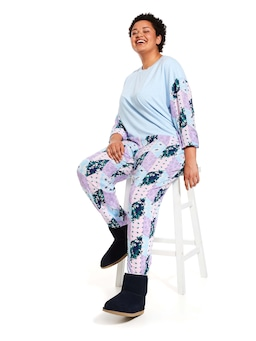 P.A. Plus Floral Patches Tapered Pj Pant
