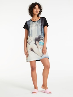 Breakfast At Tiffany's Satin Sleep Tee