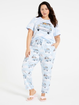 P.A. Plus Harry Potter Flying Car Roll Up Pj Pant