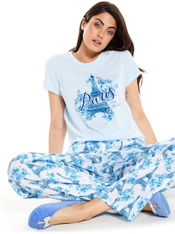 Pretty In Blue Eiffel Tower Classic Pj Pant