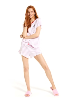 Pink Stripe Mini Short