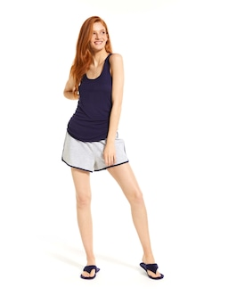 Navy Ruched Tank
