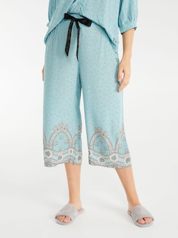 Teal Wallpaper Culotte Pj Pant