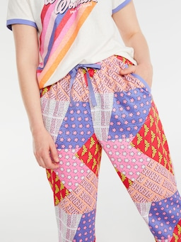 Wonder Woman Stars And Stripes Roll Up Pj Pant