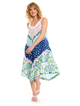 Summer Days V Neck Hankie Hem Nightie