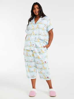 P.A. Plus Guess How Much I Love You Short Sleeve Pj Set
