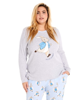 P.A. Plus Peter Rabbit Waffle Long Sleeve Top