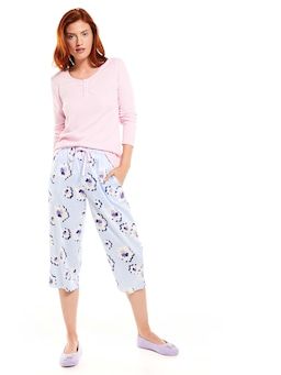 Big Flowers 3/4 Pj Pant