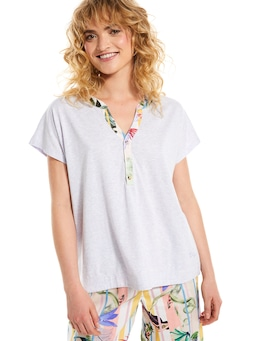 Jungle Floral Henley Top